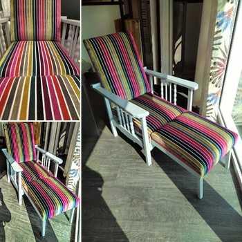 Transformation d''un fauteuil inclinable - Tissu plus moderne / Côtes d''Armor (22)