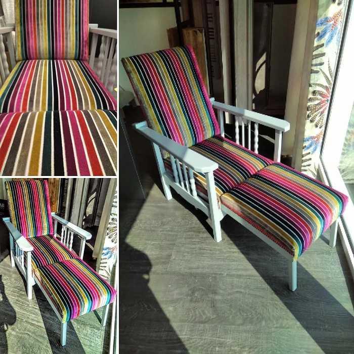 Transformation d''un fauteuil inclinable - Tissu plus moderne / Côtes d''Armor (22) 0